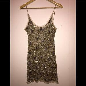 Arden B. Gold Sequence Dress